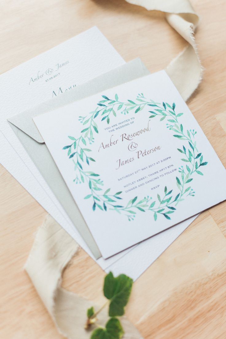 spanish wedding invitations uk%0A Laurel    luxury botanical wedding stationery collection with gold foiling  and gilt edge  Visit