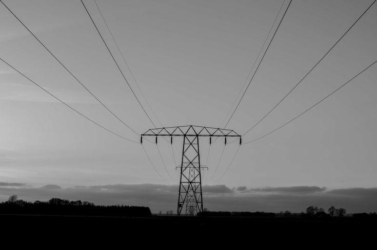 #black and white #electricity #energy #pylon