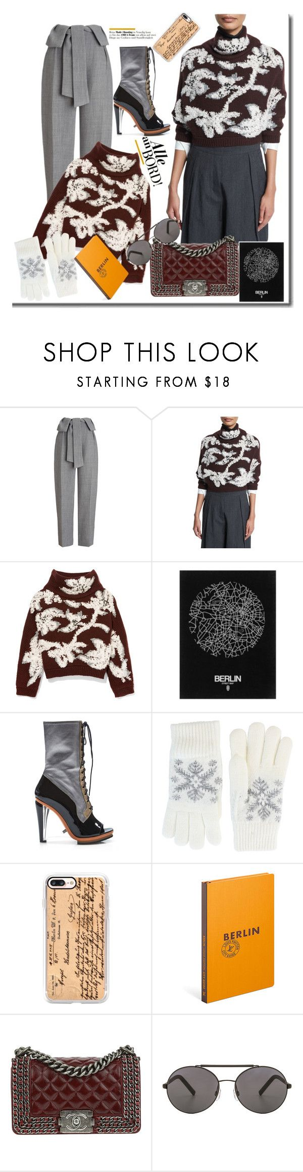 """Outfit travel to Berlin"" by faten-m-h ❤ liked on Polyvore featuring Whistles, Brunello Cucinelli, Rodarte, Fits, Casetify, Louis Vuitton, Chanel and Seafolly"