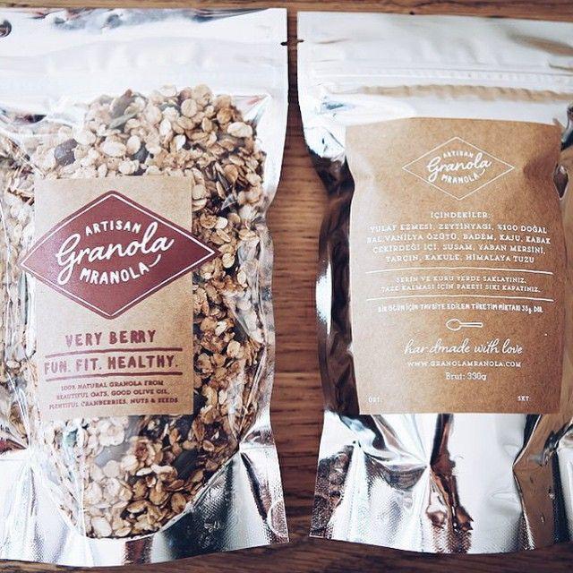 Granola packaging. Designer: @ipekerisdesign by packagingdesigninspo