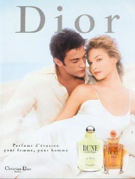 Dune by Christian Dior with Kristina Semenovskaia and David Fumero (1998).