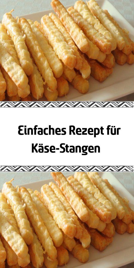 Einfaches Rezept für Käse-Stangen – Party Rezepte – Fingerfood & Snacks