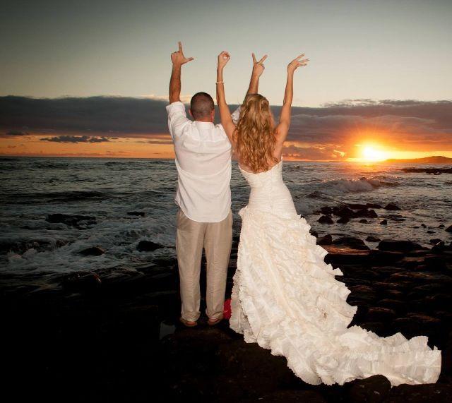 Sunset Beach Wedding Ideas: LOVE - Beach Wedding SUNSET