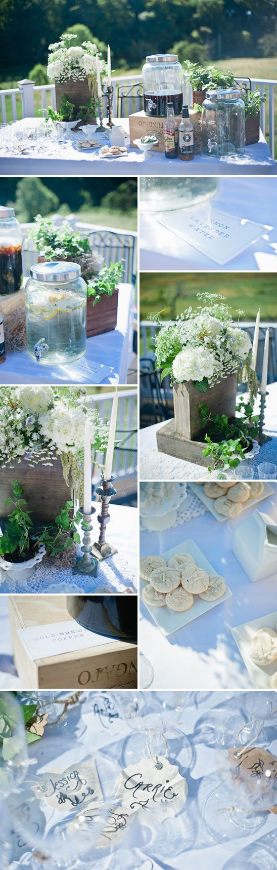Lovely French Garden Themed Baby Shower - On to Baby