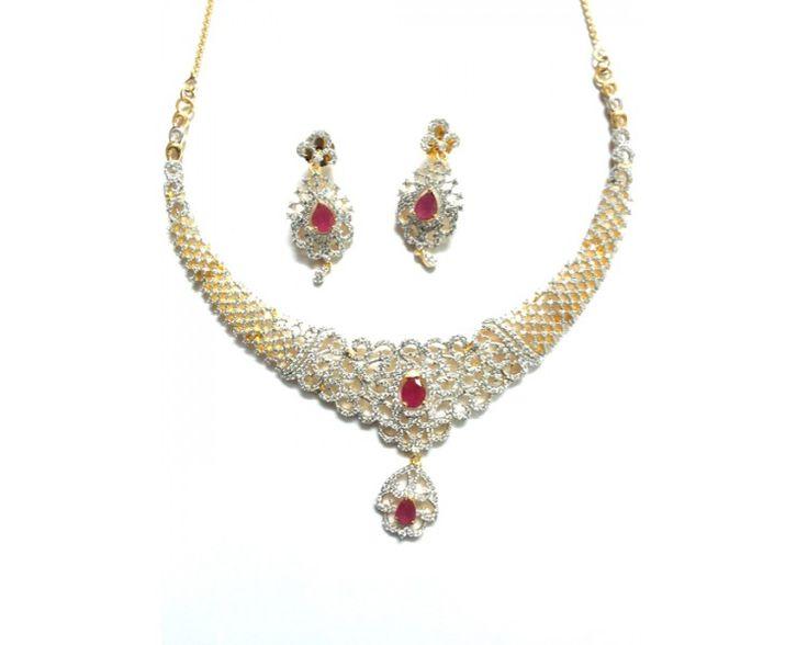 American Diamond Necklace AD2010