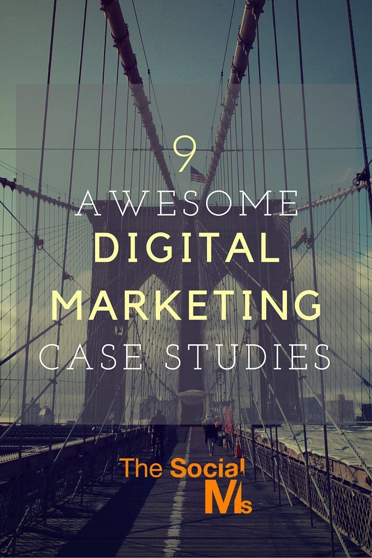 9 Awesome Digital Marketing Case Studies I've curated these - and I was a bit selective: I wanted to get a list of useful digital marketing case studies that represented very different scenarios, and I believe I have achieved that.