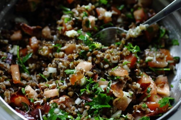 Яркий салат из гречки