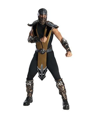 #Adult licensed mortal kombat scorpion #fancy #dress costume mens gents male bn,  View more on the LINK: http://www.zeppy.io/product/gb/2/351395326566/