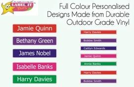 180 Personalised Self-Adhesive Labels, Just $9.95! Or Choose Either a Girls' or Boys' Pack of Personalised Self-Adhesive Icon Labels for Just $8.95 – Delivered! - from Label-It Yours ($29.95 value)