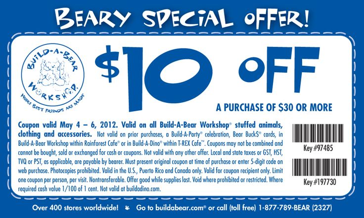 build a bear party coupons uk