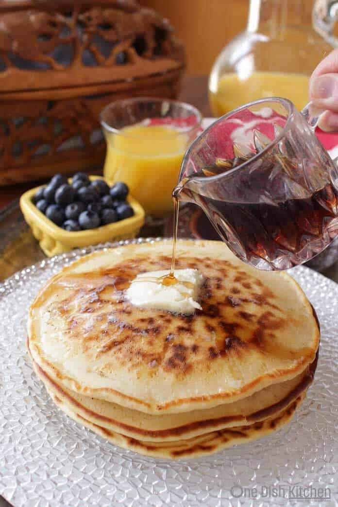 Pancake Recipe For One Fluffy And Delicious One Dish Kitchen Recipe How To Make Pancakes Pancakes For One Food
