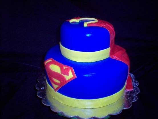 Superman Birthday Cake - Click image to find more Food & Drink Pinterest pins