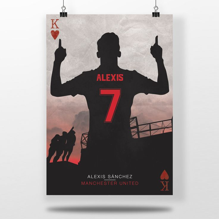Alexis Sanchez – Manchester United  High quality print that can be used to accessorise any Manchester United fans room, simply frame it and you have a magnificent piece of wall decor.