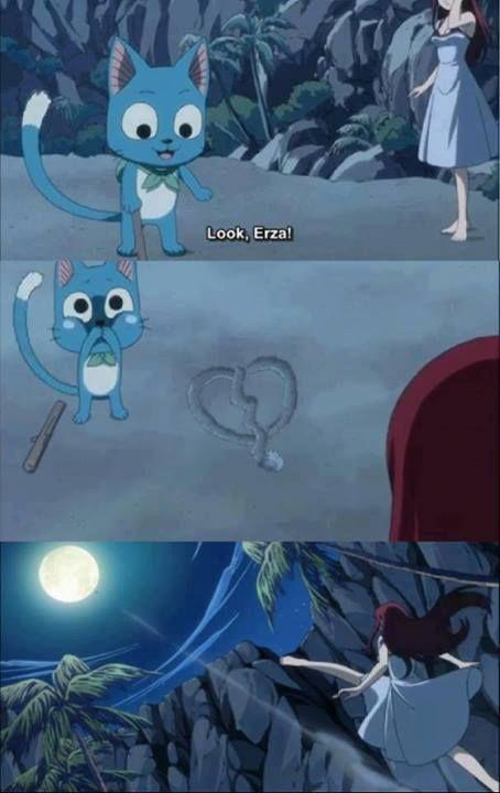 Fairy Tail | via Facebook , Erza Scarlet, Happy, broken heart