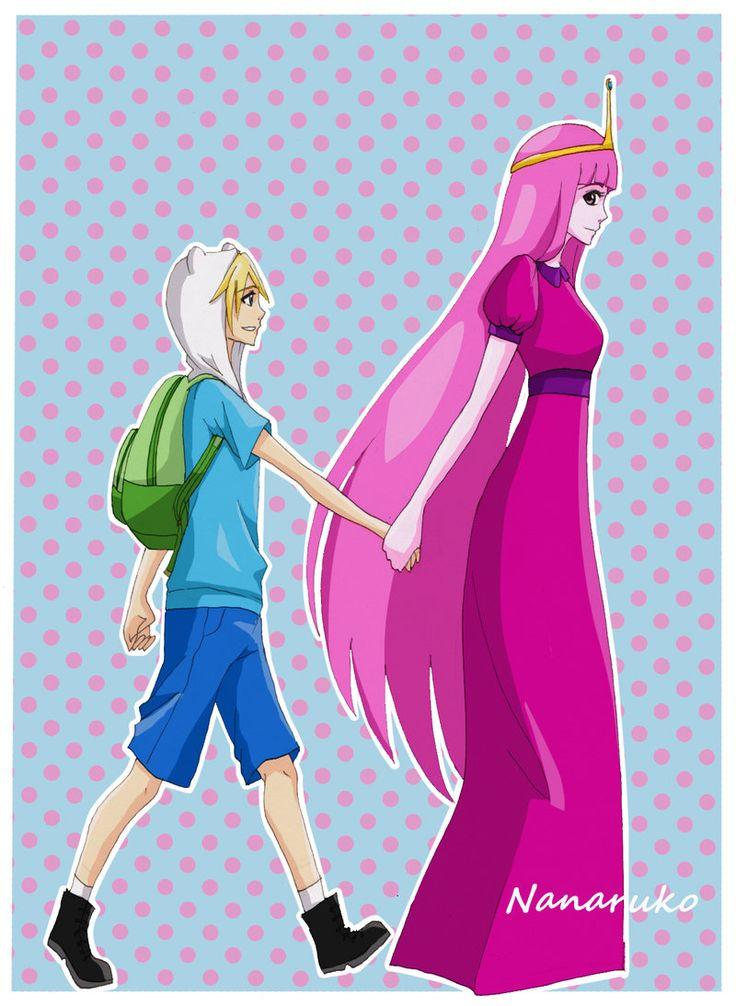 Finn and Princess Bubblegum - Adventure Time by Nanaruko.deviantart.com on @deviantART