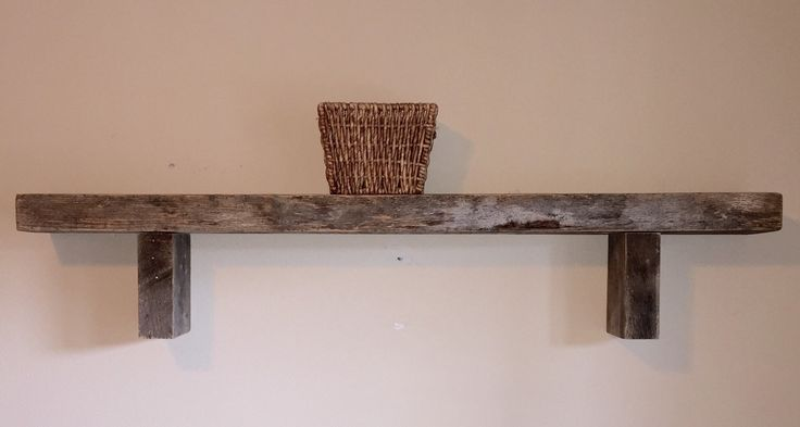 Rustic Reclaimed Wood Floating Shelf Mantle Rustic Home Decor Wall Shelving Pallet Furniture Oak Wall Shelf by BandVRusticDesigns on Etsy