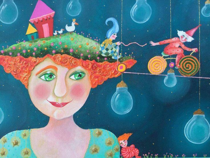 Alexia Molino - I sogni sono fatti perché tu possa realizzarli e loro abbandonarti (33x41 particolare)