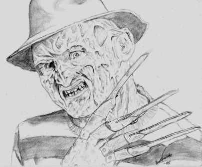 Freddy Krueger Face Drawings - Drawing Of Freddy Krueger - Drawing ...