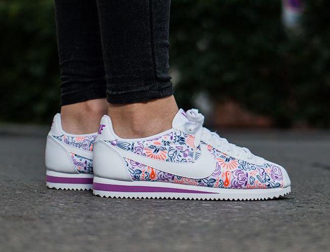 purple nike cortez shoes