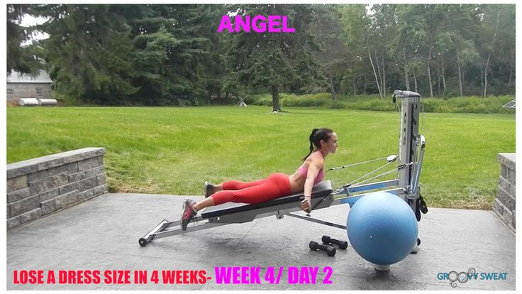 Week #4.  A workout series to help you lose weight, potentially a whole dress size, in just four weeks.