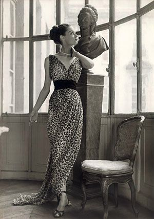 For his 1947 collection, Christian Dior decided to work in some leopard. But…