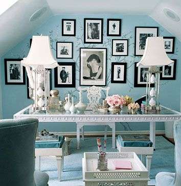 domino magazine by bernice amazing office. Tiffany blue walls, white framed fashion