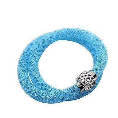 Trendy wikkelarmbanden hemels blauw kleur unieke ontwerp