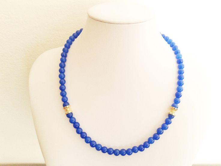 Onyx Jewellery – blue onyx necklace – a unique product by tizianat on DaWanda