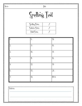 The  Best Spelling Test Template Ideas On