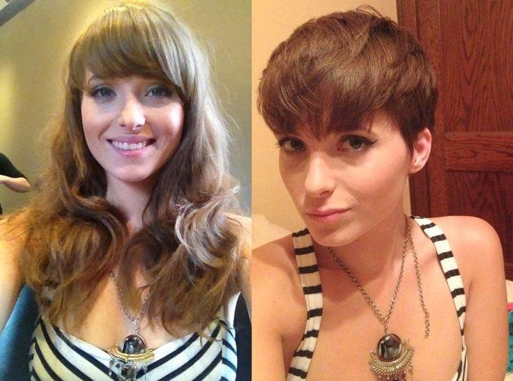 1669 best short  hair makeovers  images on Pinterest