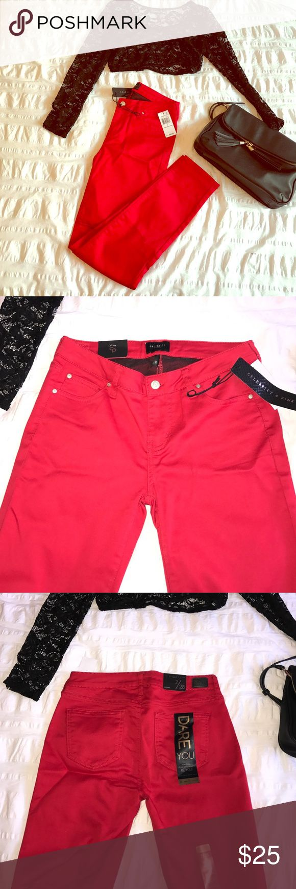 Tango Red skinny pants Tango Red skinny jean style pants. Super stretchy and comfortable. Size 7/28 Celebrity Pink Pants Skinny