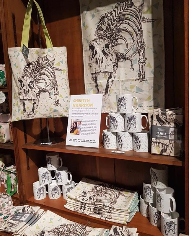 Bespoke Collection I Created For The Hunterian In Glasgow For Their Trexintown Exhibition At Kelvin Hall Products Include T Rex Tea To Dinosaur Gifts