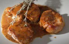 Ψαρονέφρι με κόκκινο κρασί, μέλι και μουστάρδα