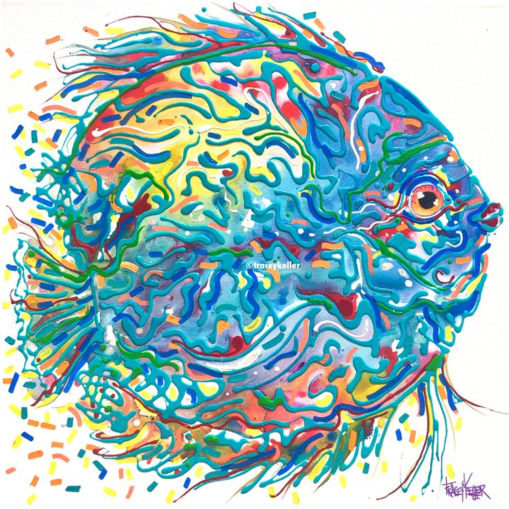Blue Discus | Fish Painting