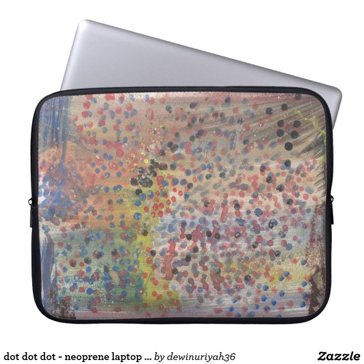 dot dot dot - neoprene laptop sleeve
