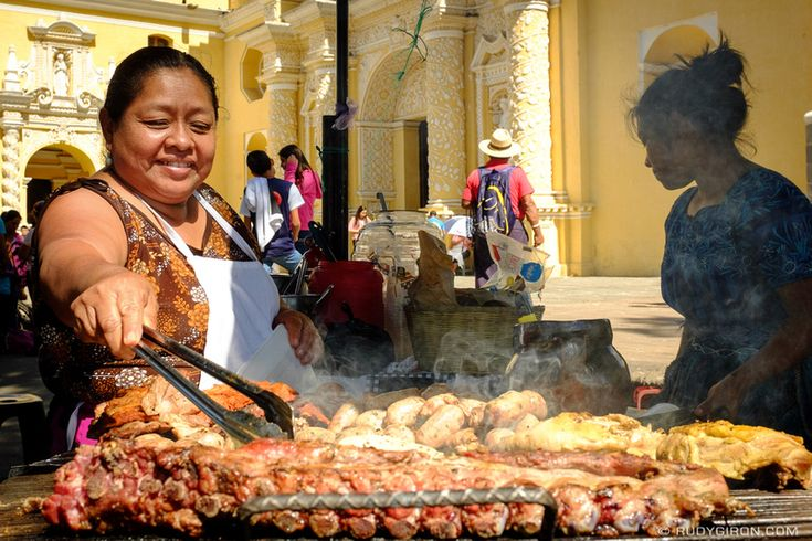 Guatemalans love charbroiled meats; that's why you see street vendors selling carnes asadas everywhere you go in Guatemala. Here's a vendor selling all kinds of charbroiled meats at the…