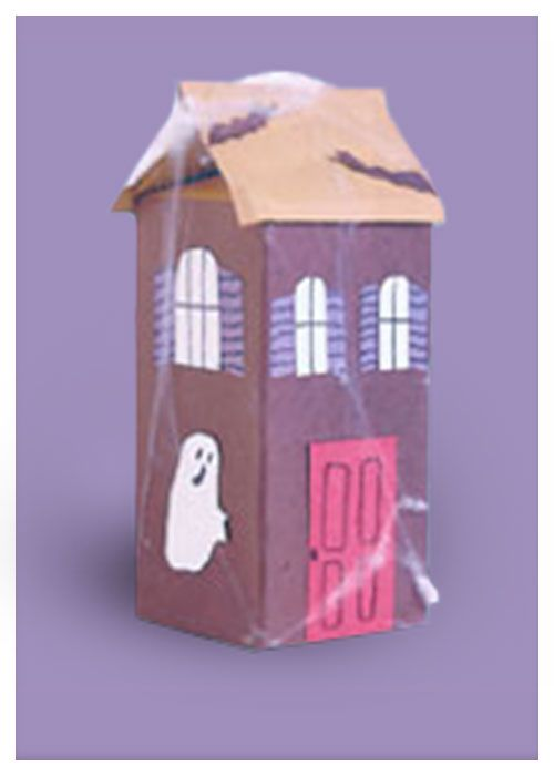 Spooky Haunted House Craft - Teaches kids to repurpose materials like milk cartons!