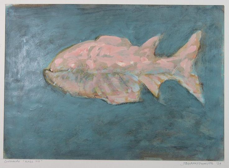 Taco Meeuwsen: Gouache, Roze vis