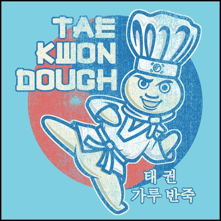 Dough Boy Paraody Taekwondo Design- TAEKWONDO T-SHIRT - Tae Kwon DOUGH- YSST442