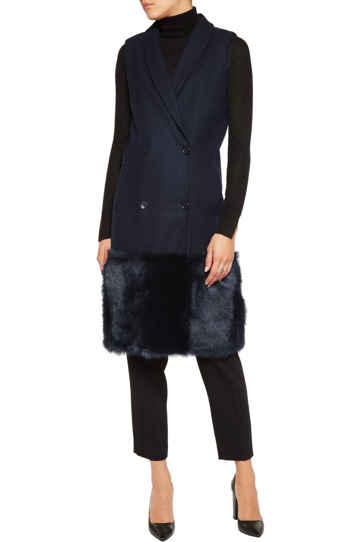 Shop on-sale Iris and Ink Shearling-paneled wool gilet. Browse other discount designer Jackets & more on The Most Fashionable Fashion Outlet, THE OUTNET.COM