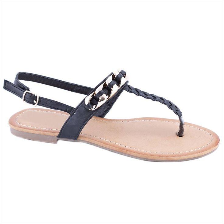 Sandale dama cu accesoriu auriu LS17N - Reducere 50% - Pret 29.99 lei - Zibra