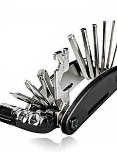 16 en 1 multi-fonction vélo bicyclette réparation mécanicien trousse d'outils