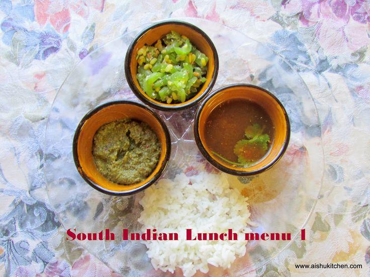 AISHU KITCHEN: South Indian Lunch Menu 1