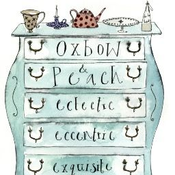 Oxbow and peach illustrated by Hannah watchorn