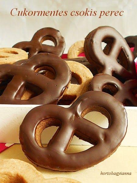 Kakukkfű: Cukormentes csokis perec házilag :-)