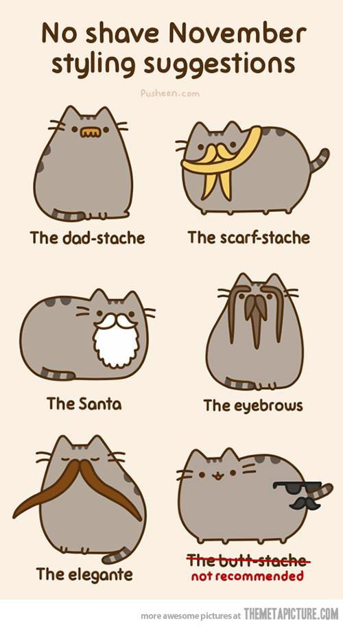 Styling Suggestions For No Shave November… The butt-stache not recommended.