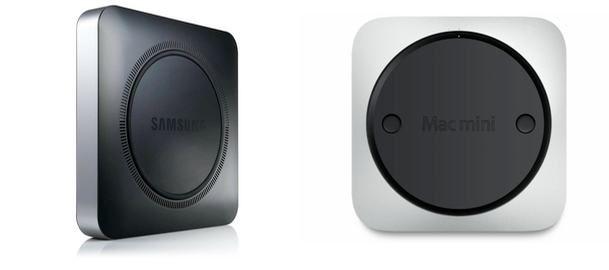 삼성의 크롬박스 제품디자인. 맥미니와 너무 비슷...소름이 끼칠정도로군
