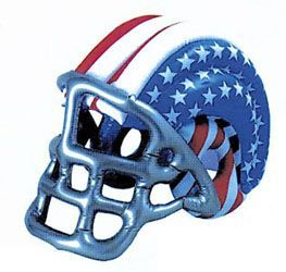 Promotional 18-inch Patriotic USA Inflatable Helmet