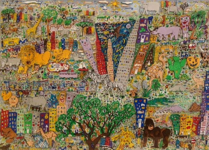 James Rizzi It's a Jungle Out There 1986 3D Construction
