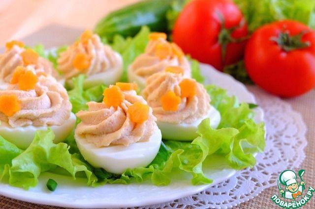 Яйца, фаршированные крабово-фасолевым кремом ингредиенты